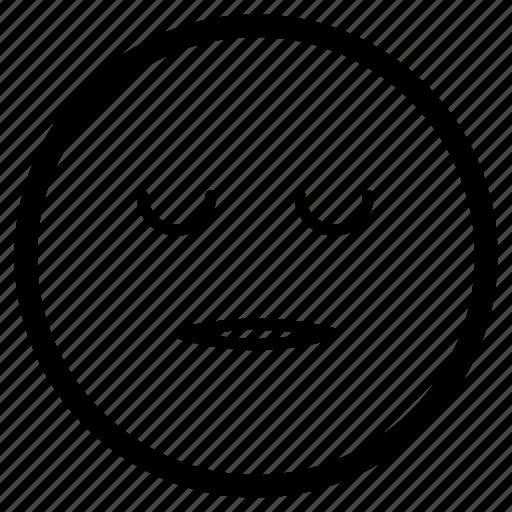 Emoji, emoticon, face, sleeping, tired icon - Download on Iconfinder