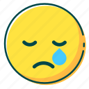 avatar, cry, emoji, emoticon, face icon