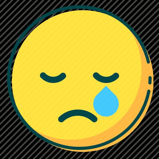 avatar, cry, emoji, emoticon, face icon