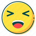 avatar, emoji, emoticon, face, laugh icon