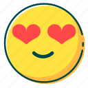 avatar, emoji, emoticon, face, love icon