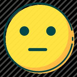avatar, emoji, emoticon, face, shock icon