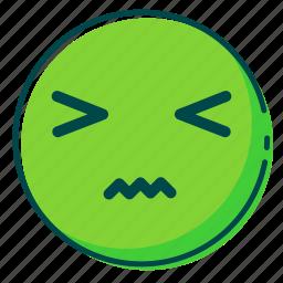 avatar, emoji, emoticon, face, sick icon