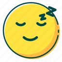 avatar, emoji, emoticon, face, sleep icon