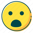 avatar, emoji, emoticon, face, surprised icon