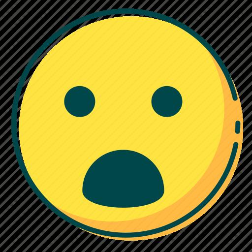 avatar, emoji, emoticon, face, surprised icon