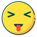 avatar, emoji, emoticon, face, tongue icon