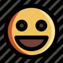 emoji, emoticon, face, happy, smile, smiley, sticker
