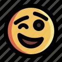 emoji, emoticon, expression, face, seduce, smile, smiley