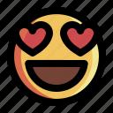 emoji, emoticon, face, happy, heart, love, smile