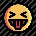 emoticon, expression, face, joke, laugh, smiley, tease