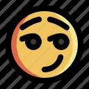 emoji, emoticon, expression, face, feeling, happy, smile