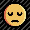 emoji, emoticons, expression, face, feeling, sad, smiley