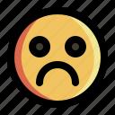 bad, emoji, emoticon, expression, face, sad, smiley