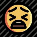 angry, emoji, emoticon, face, feeling, sad, smiley