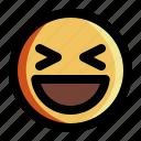 emoji, emoticon, expression, face, happy, laugh, smiley