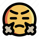 angry, emoji, emoticon, emotion, expression, face, smiley