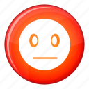 dreary, emoticon, expression, face, facial, sad, sorry icon