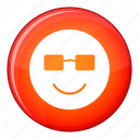 emoticon, expression, face, facial, happy, smile, sunglasses icon