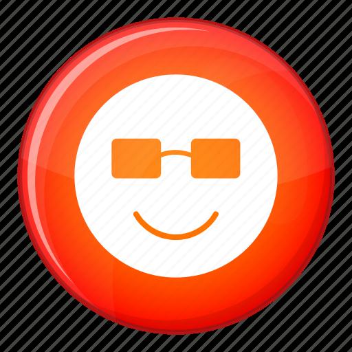 emoticon, expression, face, facial, happy, smile, sunglasses icon