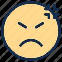 angry, bad, emoji, emoticon, emotion, mad