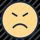 angry, emoji, emoticon, emotion, mad, sad
