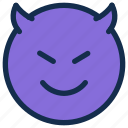 devil, emoji, emoticon, emotion, smile icon
