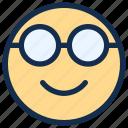 emoji, emoticon, emotion, geek, glasses, nerd