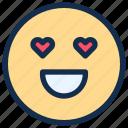 emoji, emoticon, emotion, happy, love icon