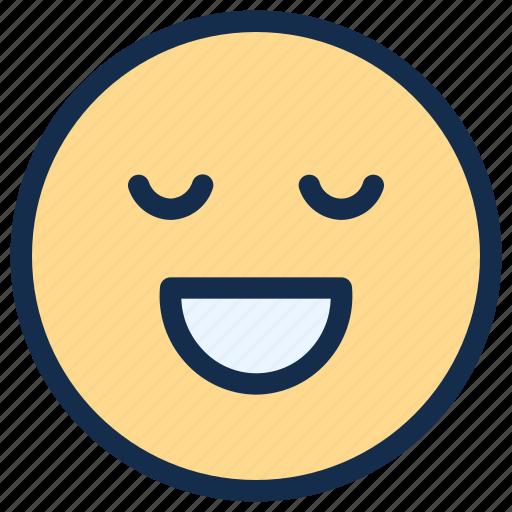 emoji, emoticon, emotion, happy, relieved, smile icon