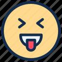emoji, emoticon, emotion, happy, smile, tongue icon