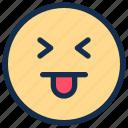 emoji, emoticon, emotion, happy, tongue icon