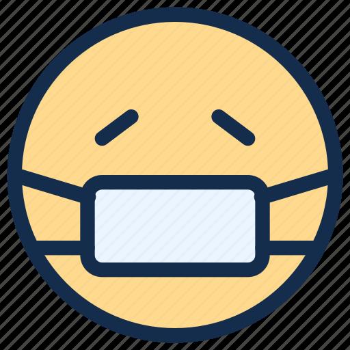 emoji, emoticon, emotion, mask, sick icon