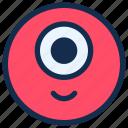 cyclop, emoji, emoticon, emotion, eye, monster, one icon