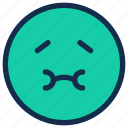 emoji, emoticon, emotion, nauseated, sick icon