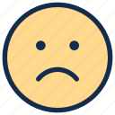disappointed, emoji, emoticon, emotion, sad icon