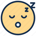 emoji, emoticon, emotion, sleep icon