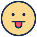 bored, emoji, emoticon, emotion, tongue icon