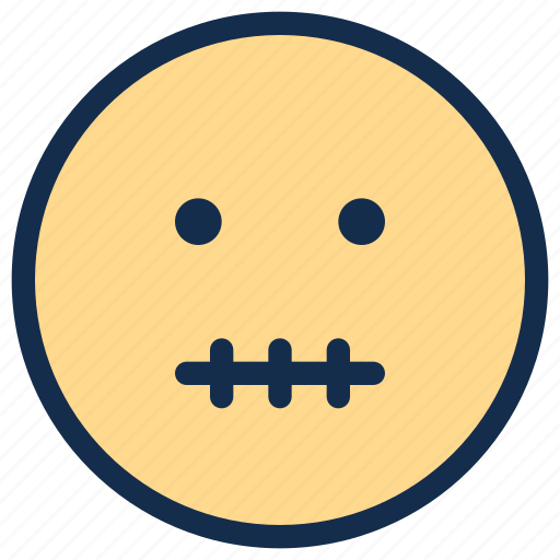 emoji, emoticon, emotion, zipper icon