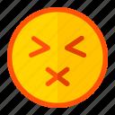 dumb, emoji, emoticon, expression, silent, usual icon
