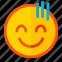 awkward, emoji, emoticon, expression, odd, smile, strange icon