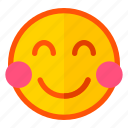 bluch, emoji, emoticon, expression, shy, smile, smiley