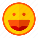 emoji, emoticon, expression, frendly, happy, smile, well
