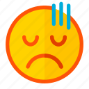 apologize, emoji, emoticon, expression, guilt, guilty, sorry icon