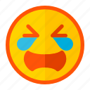 cry, emoji, emoticon, expression, gloomy, moody, unwell icon
