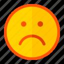 emoji, emoticon, expression, happy, moody, not, unwell icon