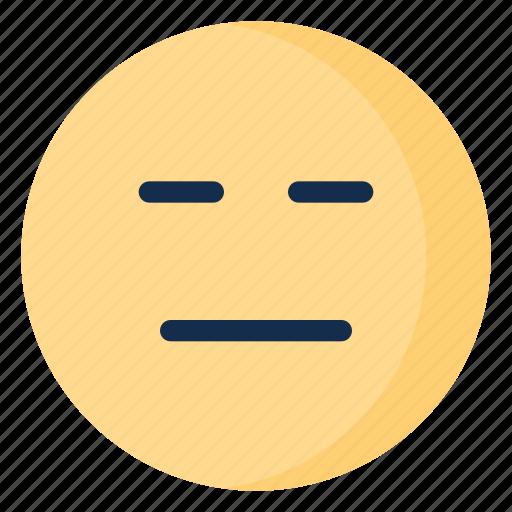 bored, disappointed, emoji, emoticon, emotion icon