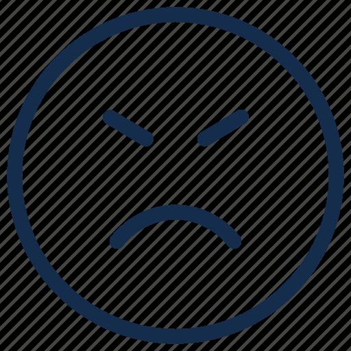 Angry, emoji, emoticon, emotion, mad, sad icon - Download on Iconfinder