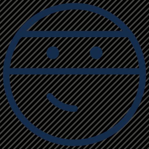 emoji, emoticon, emotion, ninja, thief icon
