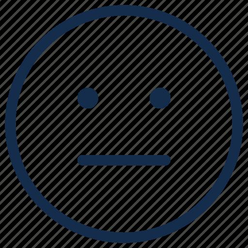 emoji, emoticon, emotion, reactionless, silent icon